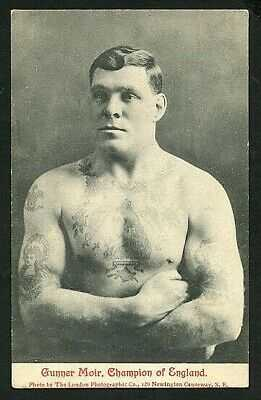 English 1910 GUNNER MOIR Champion Boxer TATTOO Male Portrait ~ VASTA Archive