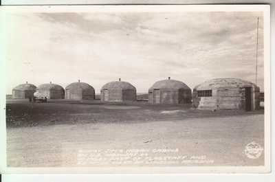 RPPC Flagstaff Winslow AZ Route 66 Indian Hogan Cabins Coconino CO Roadside 30's