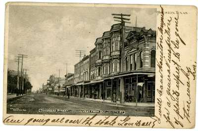 Houston Texas TX - CONGRESS STREET WEST FROM SAN JACINTO STREET - Postcard