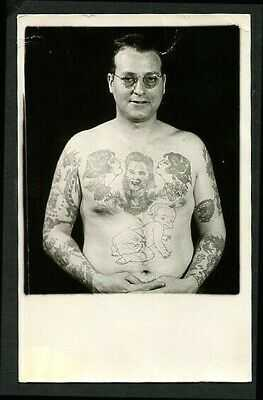 American 1940s TATTOOED Man BARTELS via Phil Sparrow Tattoos  ~ VASTA Archive