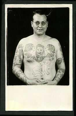 American 1940s TATTOOED Man BARTELS via Phil Sparrow Tattoos  ~ VASTA Archive
