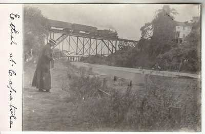 RPPC Capitola CA Santa Cruz CO Soquel SP Train Trestle San Lorenzo River 1907