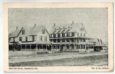BRAYTON HOTEL,  REHOBOTH BEACH DELAWARE POSTCARD