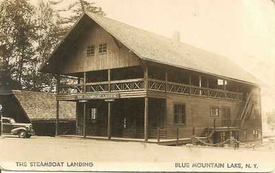 RPPC - STEAMBOAT LANDING , BLUE MOUNTAIN LAKE, NEW YORK  ADIRONDACKS