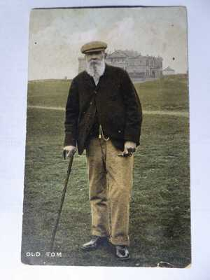 OLD TOM MORRIS. Father Of Golf at St Andrews. Rare Millar & Lang Postcard.