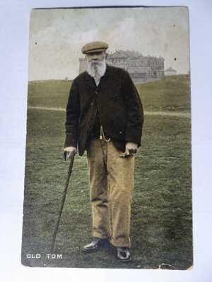 OLD TOM MORRIS. Father Of Golf at St Andrews. Rare Millar & Lang Postcard.