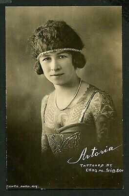 American 1920 ARTORIA GIBBONS Tattooed Woman Circus Her PORTRAIT ~ VASTA Archive