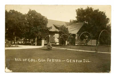 RPPC Fabyan Villa  Geneva Illinois 1909 Fox River Batavia Frank Lloyd Wright