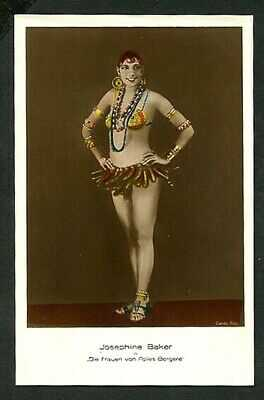 German 1920s JOSEPHINE BAKER Hand Tinted BANANA Costume FOLIES VASTA Archives
