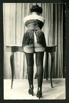 French 1920s YVA RICHARD Seductive Rear VIEW Corset HIGH HEELS ~ VASTA Archives