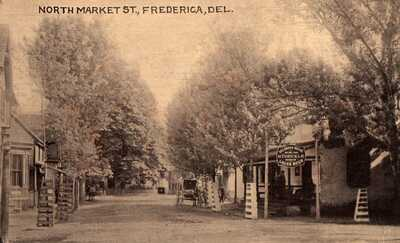 FREDERICA DELAWARE North Market Street Stoeckle Beer Sign Kent County