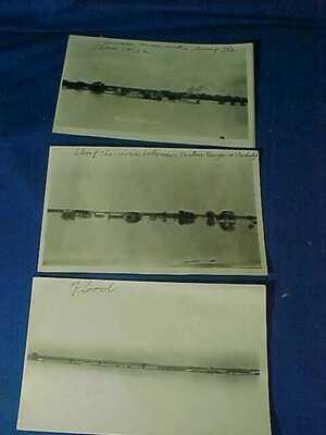 3-1912 FLOOD Of MISSISSIPPI RIVER -Baton Rogue to VICKSBURG REAL PHOTO POSTCARDS