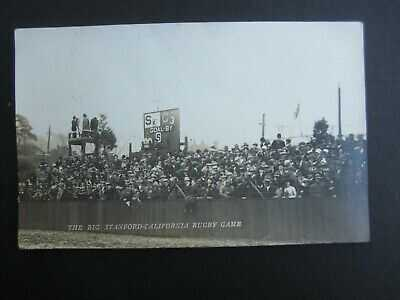 Old 1912 STANFORD CAL Big Game FOOTBALL - Scoreboard Crowd RPPC Photo POSTCARD