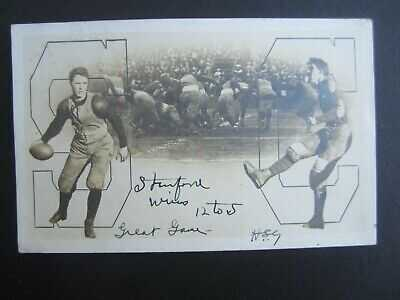 Old 1905 - STANFORD CAL - Big Game - FOOTBALL -  RPPC Photo POSTCARD - Palo Alto