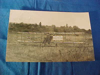1912 US AEROPLANE MAIL SERVICE Oregon to Wash Aviation REAL PHOTO POSTCARD-