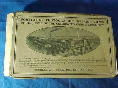 FULL SET of 44 Early 20thc CONN MUSICAL INSTRUMENT Factory REAL PHOTO POSTCARDS