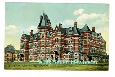 Poughkeepsie NY -ADMINISTRATION BUILDING-HUDSON RIVER STATE HOSPITAL- Postcard