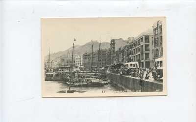 circa 1953  HONG KONG  CHINA PHOTO POSTCARD - CONNAUGHT ROAD, stamp cover