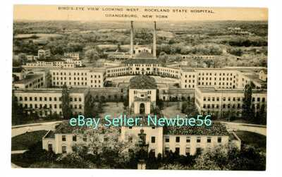 Orangeburg NY -ROCKLAND COUNTY STATE HOSPITAL BIRDSEYE VIEW- Postcard
