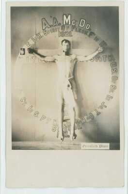 Fraternal Prisoner Slave Secret Society Ritual Man Gay RPPC Photo Postcard