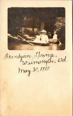 Postcard DE Brandywine Springs Wilmington Delaware 1907 RPPC Real Photo