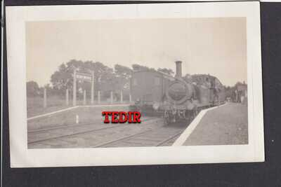 Isle of Wight Railway Station at Ningwood with Trains at Platforms RP Postcards