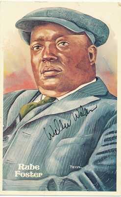 Willie Wells-Signed Vintage Perez Postcard (Hall of Famer)