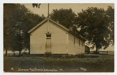 RPPC Antioch Illinois District # 33 Emmons One Room School 1910 Beech Grove Road