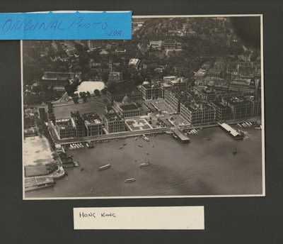Aerial view off Hong Kong, China, 1930 photograph