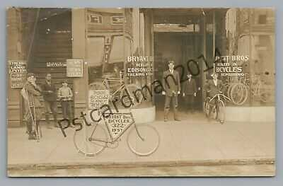Bryant Bros Bicycle Store RPPC Alabama--Bessemer? Anniston? Antique Photo Bike