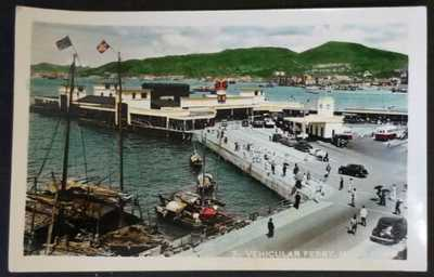 1950's Hong Kong Ferry Hand Tinted Real Photo Postcard