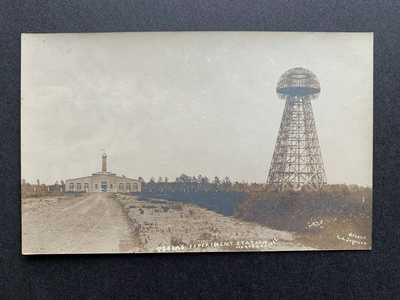 RPPC - TESLA'S EXPERIMENT STATION , WARDEN CLIFF , PORT JEFFERSON , NY, 1909