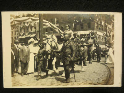 RPPC COLUMBUS OHIO-OHIO WOMAN SUFFRAGE ASSOC. PARADE AUG 27,1912   JOAN OF ARC
