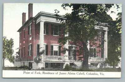 Point of Fork COLUMBIA Virginia WE BURGESS Antique PC James Alston Cabell 1910s