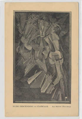 Marcel Duchamp Armory Show 1913 Nude Descending Staircase picture postcard art