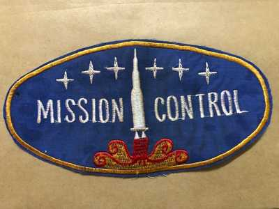 Patch  ,  Disneyland ,  DISNEY  ,  Mission Control , 8 in PATCH   , sold as is