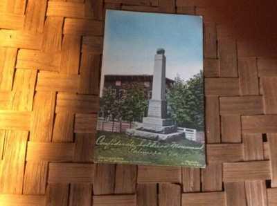 Rare W.E. Burgess Postcard  Confederate Soldiers Monument Palmyra Virginia 1909