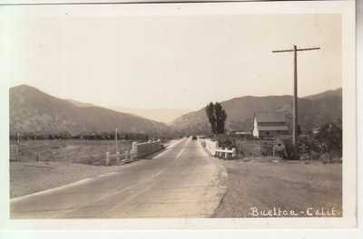 RPPC Buellton CA Santa Barbara CO Road & Bridge Scene near Solvang Gaviota 20's