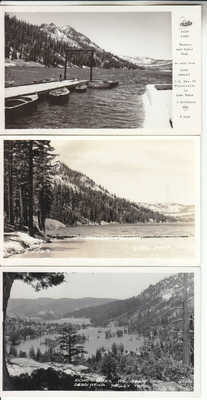 3 RPPC Echo Lake CA Tahoe Placerville Hwy El Dorado CO Real Photo California