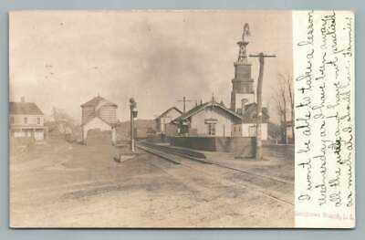 LIRR Railroad Station SMITHTOWN Branch NY Photo RPPC Train Depot Long Island 10s