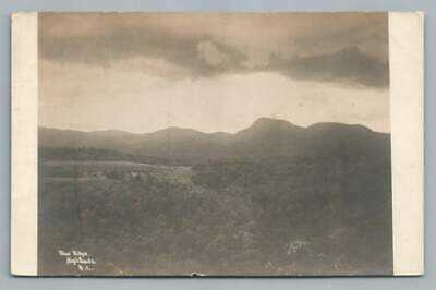 Blue Ridge Mountains Profile HIGHLANDS NC Photo RPPC EASTERN ILLUSTRATING 1910