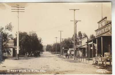RPPC Piru CA Ventura CO near Santa Paula Fillmore Santa Clarita 1910 Real Photo