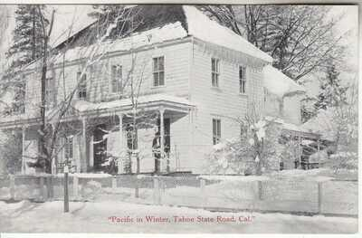 Placerville Tahoe Road Pacific CA Hotel near Kyburz El Dorado CO Roadside 1915