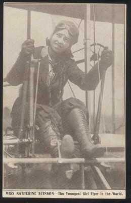 Postcard HELENA Montana/MT  RARE 1913 AERO POST POSTMARK KATHERINE STINSON #2