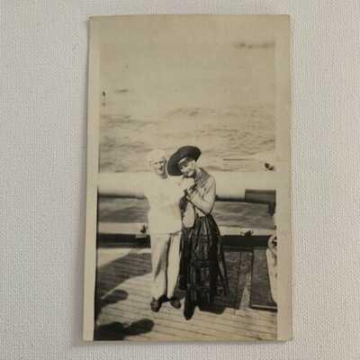 Antique RPPC Real Photograph Postcard Navy Sailor Cross Dresser Odd Gay Interest