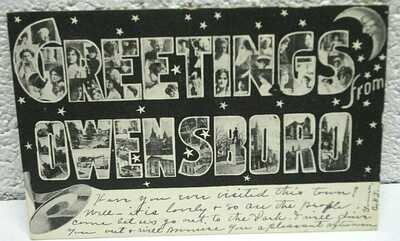 "(J60) post card; ""GREETINGS from OWENSBORO""; Sep 1906"