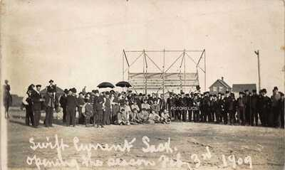 Baseball 1909 Opening Day Swift Current Western League Sask Canada - RPPC