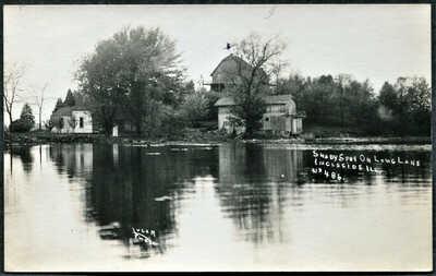 Ingleside Long Lake IL Illinois Shady Spot  Lugar #486 Antioch RPPC 1915