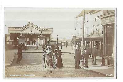 Town Pier, Gravesend. R/P. Railway Station.
