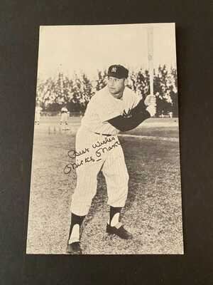 RARE Original 1958 Vintage Holiday Inn Postcard Mickey Mantle BLACK & WHITE